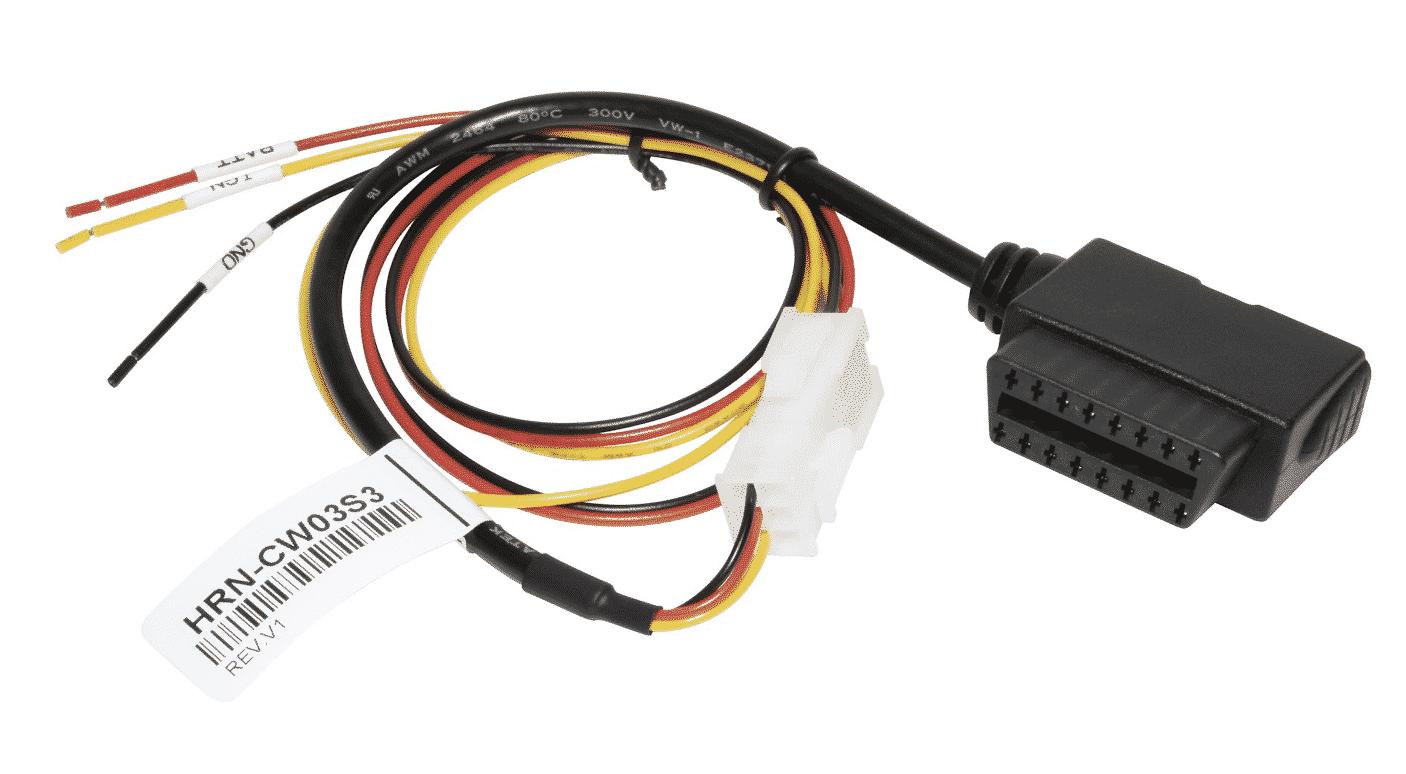 Bild: Geotab HRN-CW03K3 Kabelbaum Adapter 3-Pol. für Maschinen ohne OBD2 Diagnoseanschluss