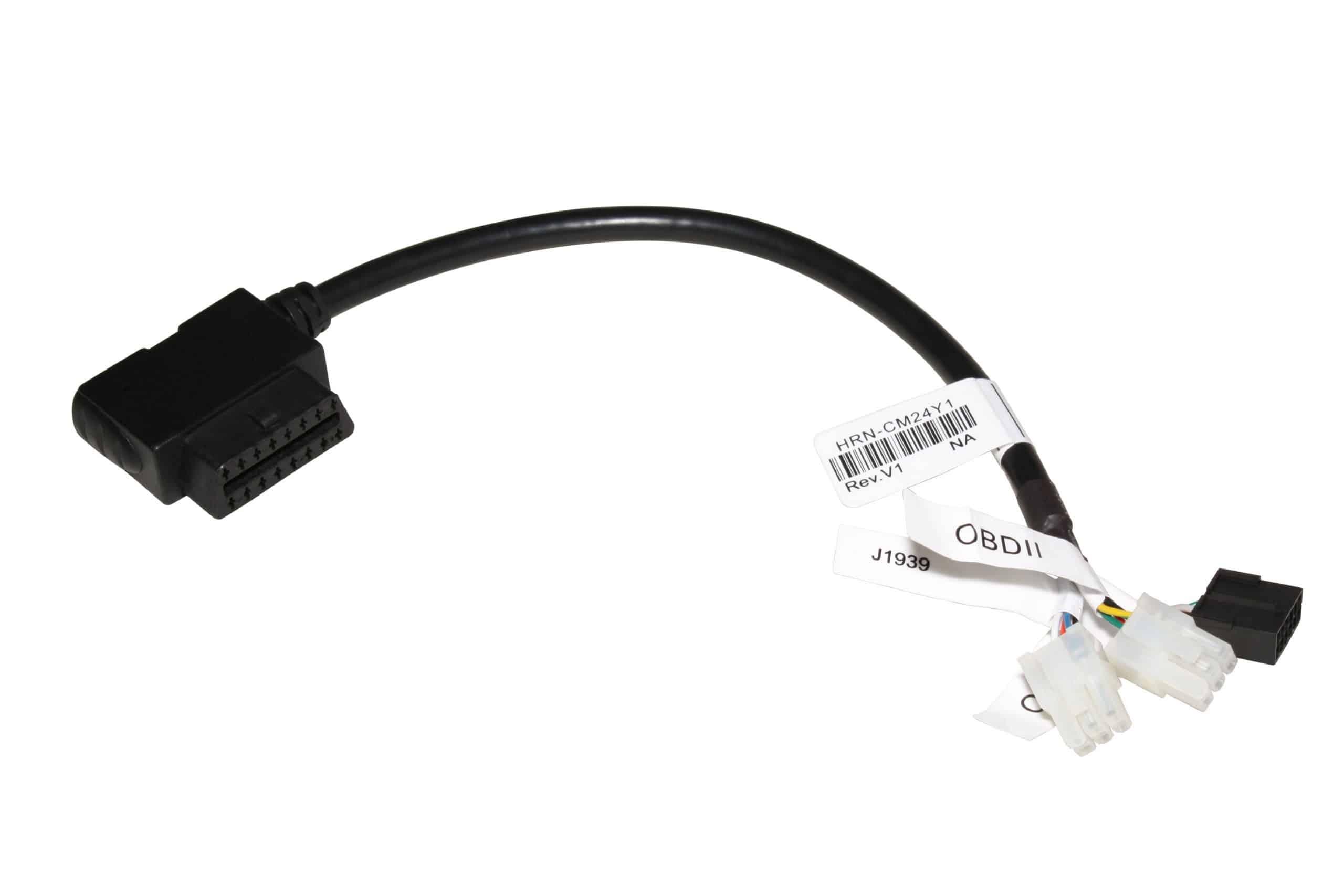 Geotab HRN-CM24Y1 Kabelbaum Adapter für benutzerdefinierte Installationen. Molexstecker für zwei OBD-Anschlussstellen an eine J1939-Anschlussstelle.