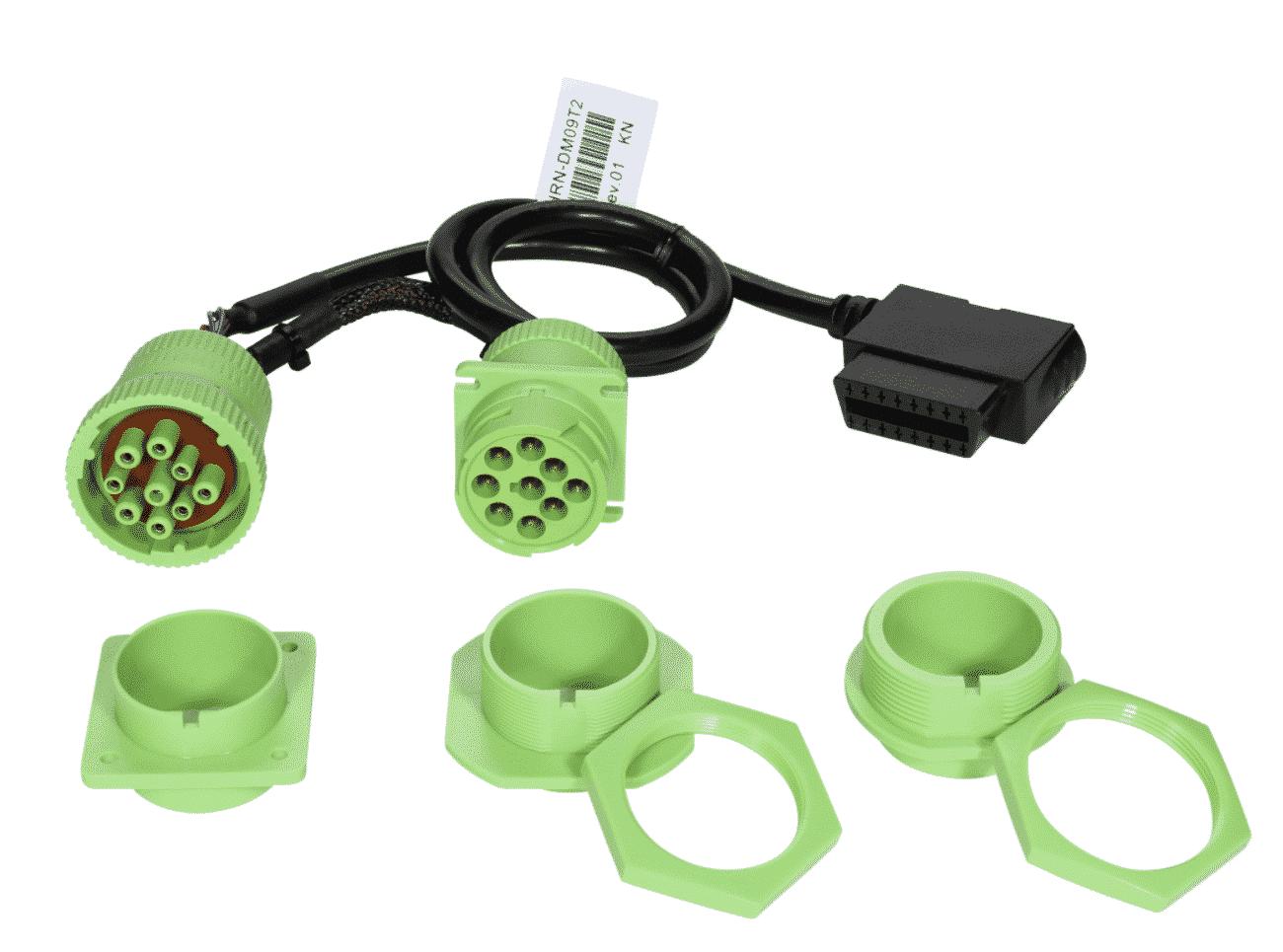 Bild: Geotab HRN-GS09K2 Kabelbaum Adapter 9-Pol. T-Kabelsatz mit vier Montagehalterung