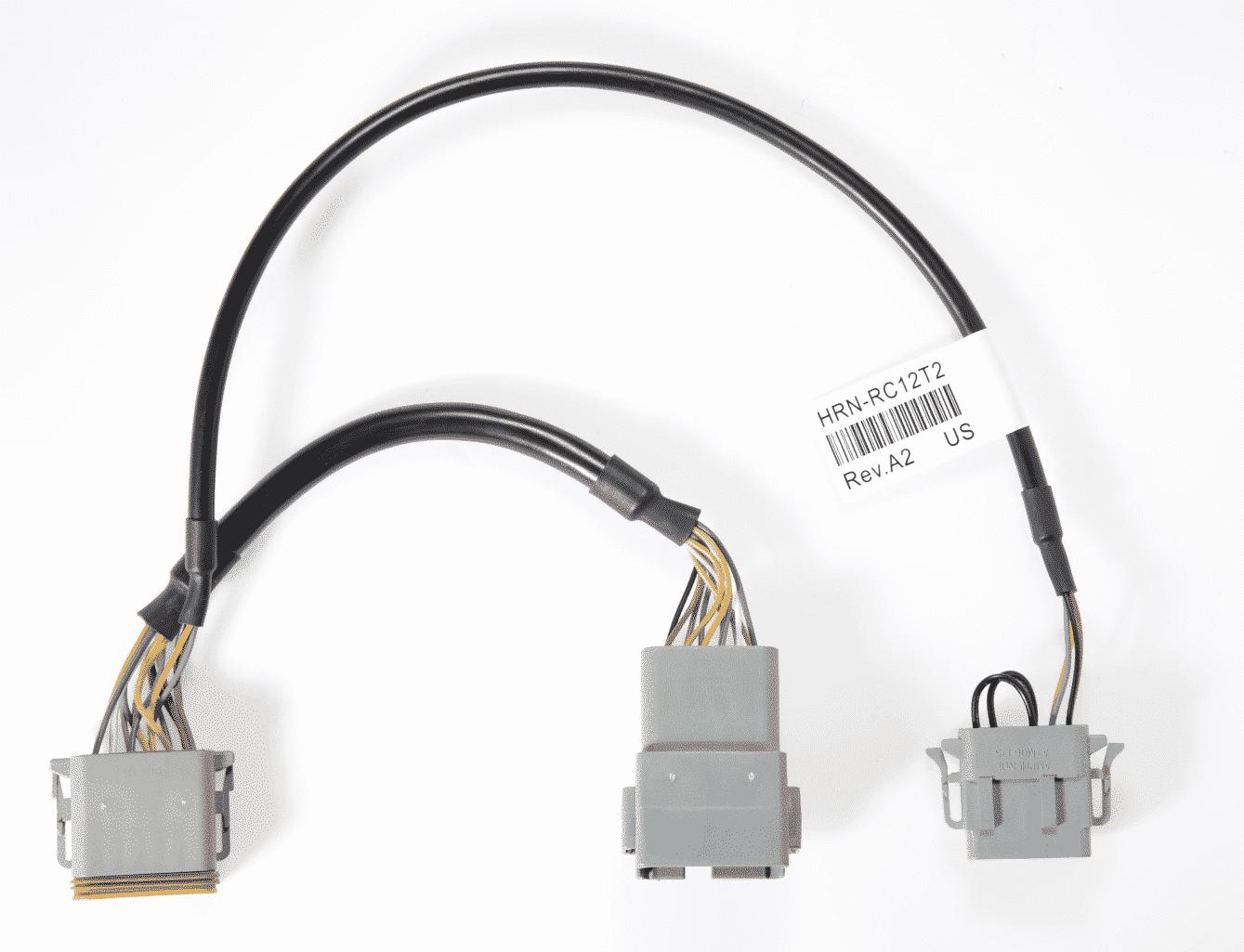 Bild: Geotab HRN-RC12T2 Kabelbaum Adapter 12-Pol. Komatsu ab Bj.2010 spezifischer Kabelbaum für GO RUGGED Geräte