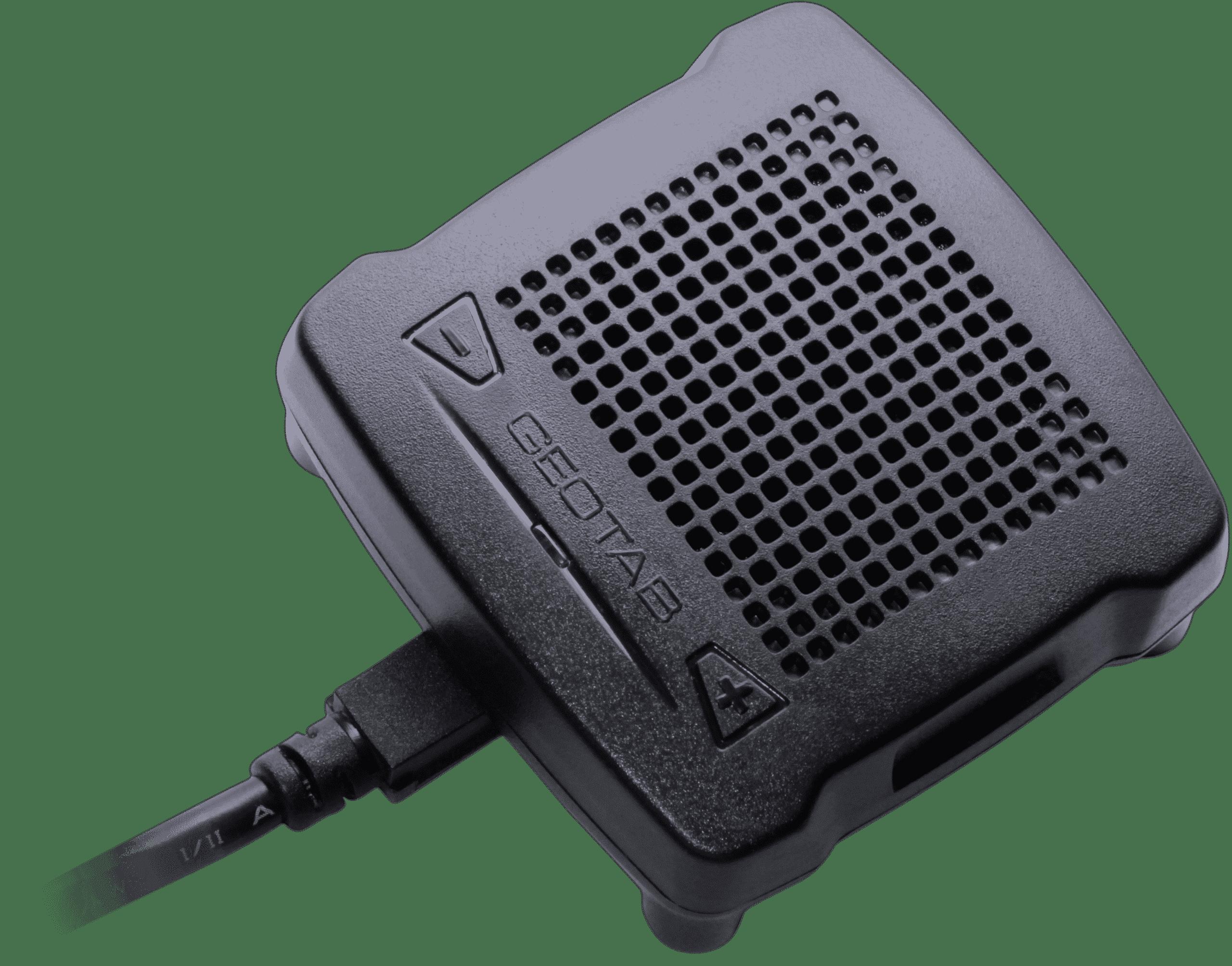 Geotab IOX-GOTALK Vokalisierungs-Lautsprecher Erweiterung (Text-to-Speech) für die Fahrerrückmeldung.